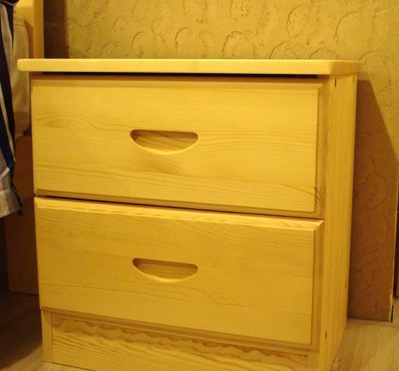 树之语新艾薇尔松木原木色系列ACT-2二抽床头柜ACT-2