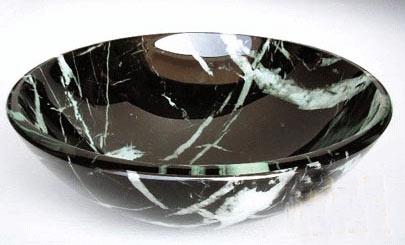 古亚双层玻璃盆S378