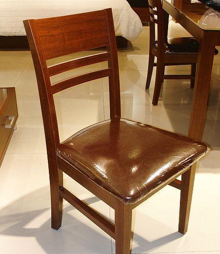 诺捷餐厅家具餐椅7P034花梨木色7P034