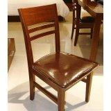 诺捷餐厅家具餐椅7P034花梨木色