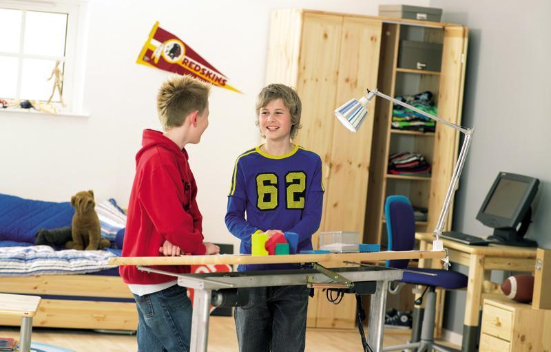 芙莱莎儿童松木家具电动绘图桌238013238013