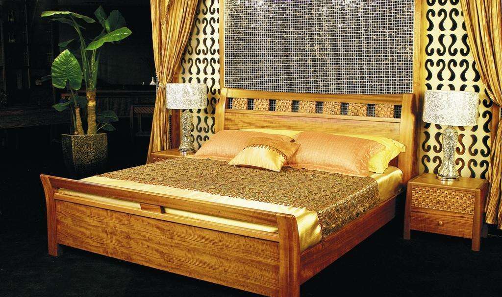 华源轩- 卧室家具-黄金柚系列-床头柜-R1802BR1802B