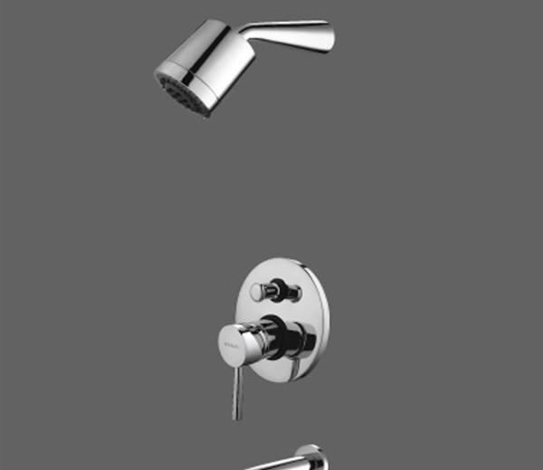 美加华M-3741-1C入墙式浴缸龙头(纯铜镀铬)M-3741-1C