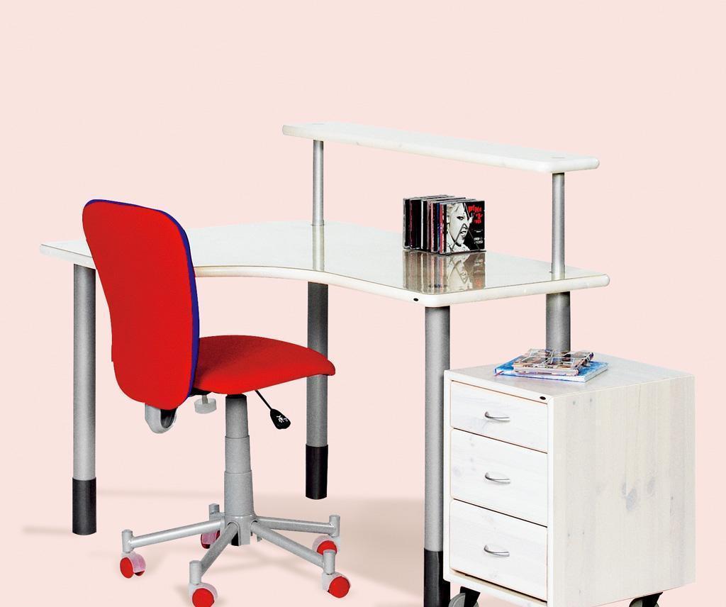 丹麦芙莱莎儿童家具书桌组合ALFRED(白色)ALFRED