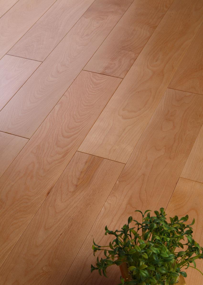 新绿洲直线实木系列枫木实木地板枫木