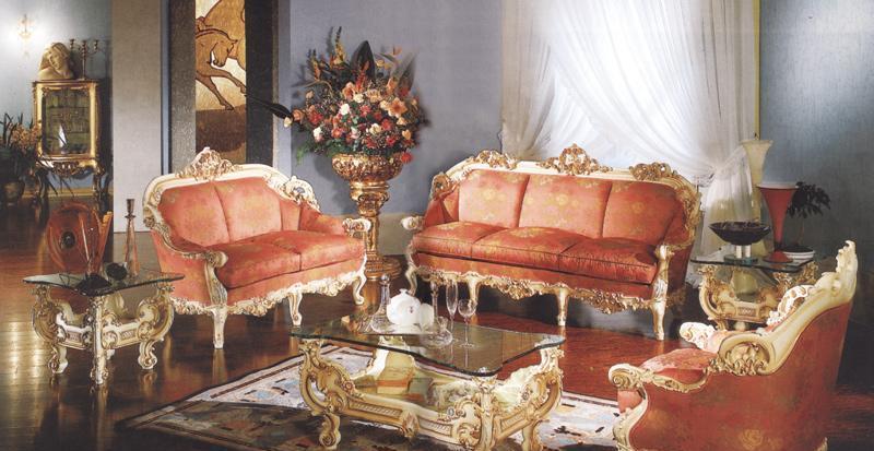 罗浮居沙发意大利SILIK家具红色六件套红色六件套