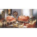 罗浮居沙发意大利SILIK家具红色六件套