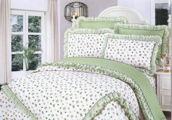 梦洁家纺全棉花边三件套(1.2和1.5床用)3号三件套