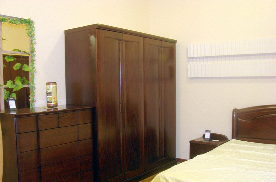 东升实木家具A403四门衣柜