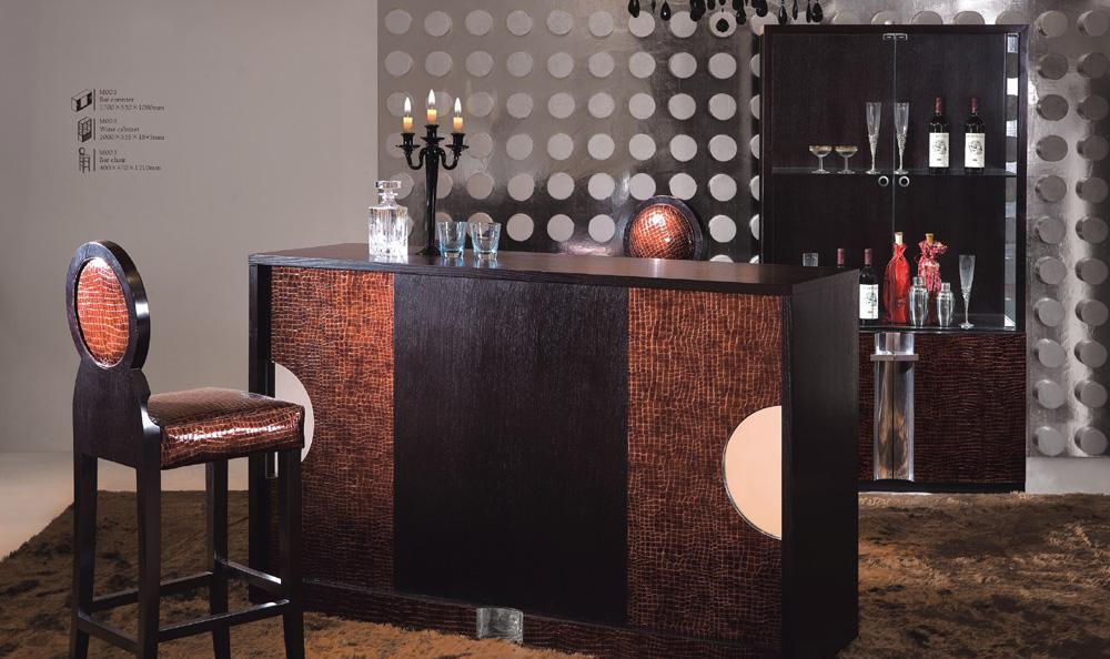 树之语铭爵系列M003酒柜+吧台+吧椅M003