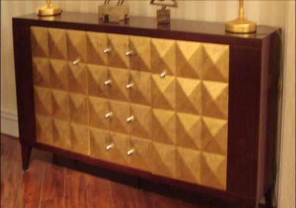 美凯斯客厅家具经典恋人系列贴金饰柜M-C658GM-C658G
