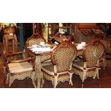 翡翠藤器印尼藤餐桌椅
