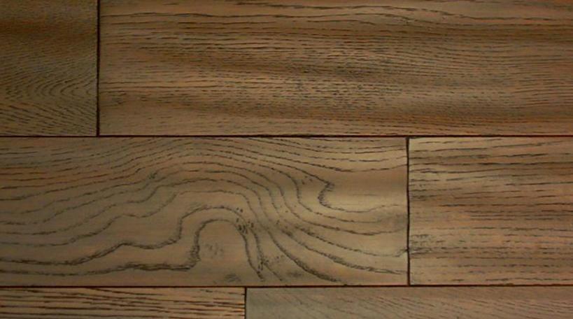 福斯实木地板浮雕面系列咖啡色