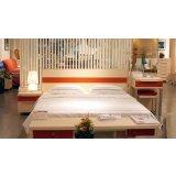 耐特利尔卧室家具彩釉系列白枫床