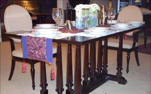 美凯斯餐厅家具长餐台M-C481T-LM-C481T-L