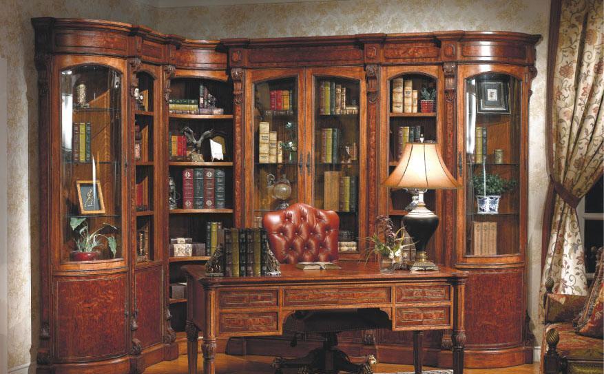 大风范家具路易十六书房系列LV-550转角书柜LV-550转角书柜