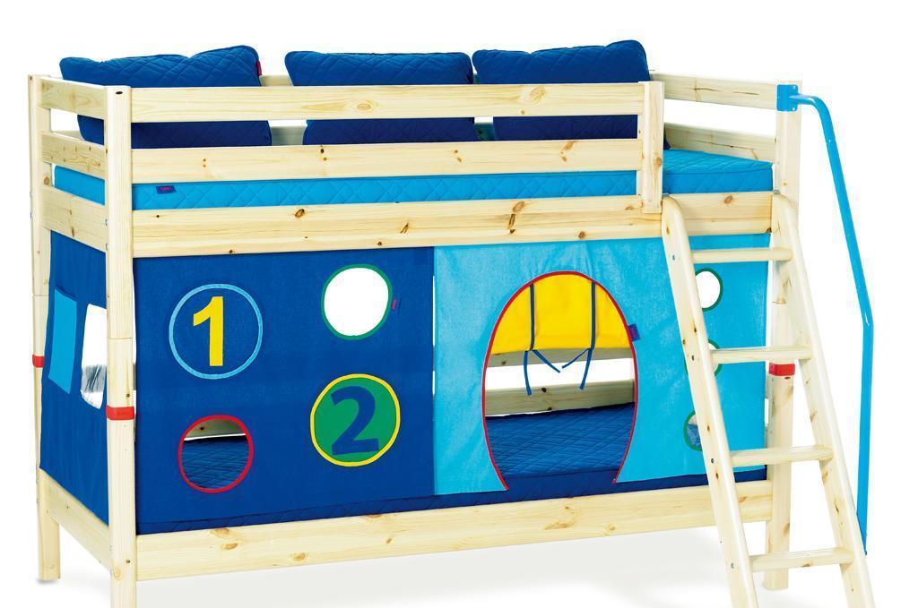 丹麦芙莱莎儿童家具双层床组合BALDER2(本木色BALDER2