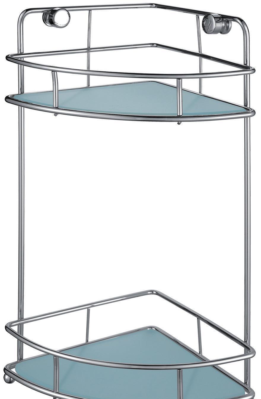 帝朗F16007-2双层角形玻璃架F16007-2