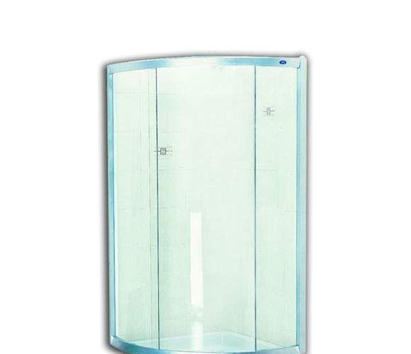 美标弧形淋浴房西雅图系列CT-8034.998.S0(银色CT-8034.998.S0