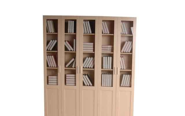 奥格枫木色系列A01五门书柜A01五门书柜