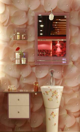 三英浴室柜桃花桃花