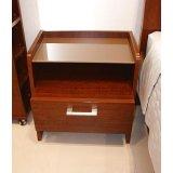 诺捷卧室家具床头柜8C036花梨木色