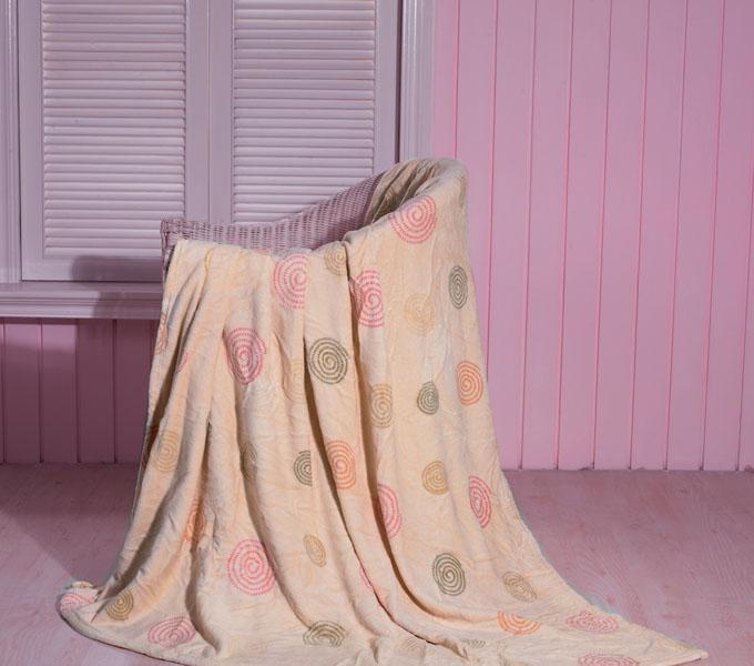珑棉家纺印花珊瑚绒毯素雅印花珊瑚绒毯素雅