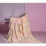 珑棉家纺印花珊瑚绒毯素雅