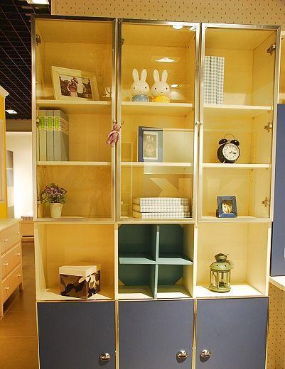 我爱我家儿童家具三门书柜FH13+GFH13+G