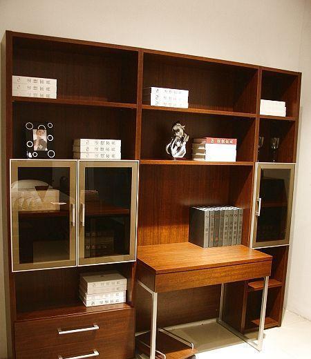 诺捷书房家具书柜电脑桌8K010花梨木色8K010