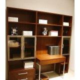 诺捷书房家具书柜电脑桌8K010花梨木色