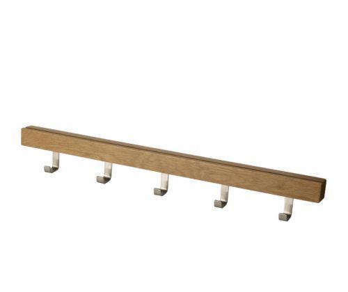 宜家5钩挂杆图西格(橡木/不锈钢)