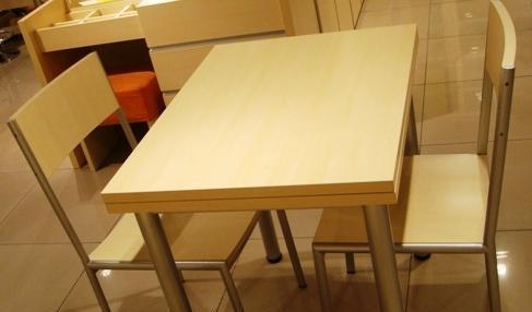 五木板式家具旋转餐桌(折叠)WD-64WD-64