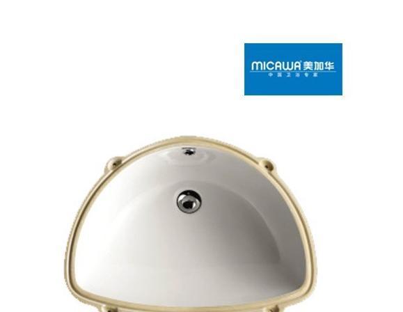 美加华M-4808台下盆(大圆形溢水孔)M-4808