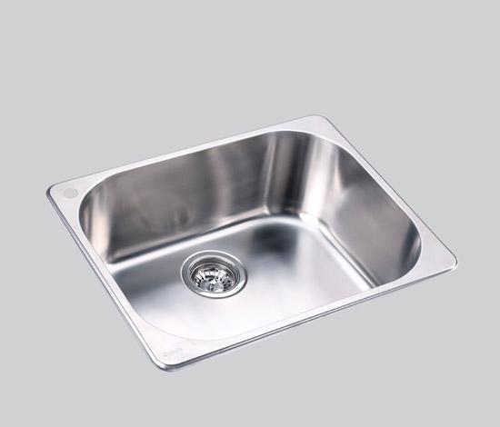 得而达单槽不锈钢水槽(无孔)SS12006-A