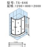 阿波罗简易淋浴房TS系列TS-646