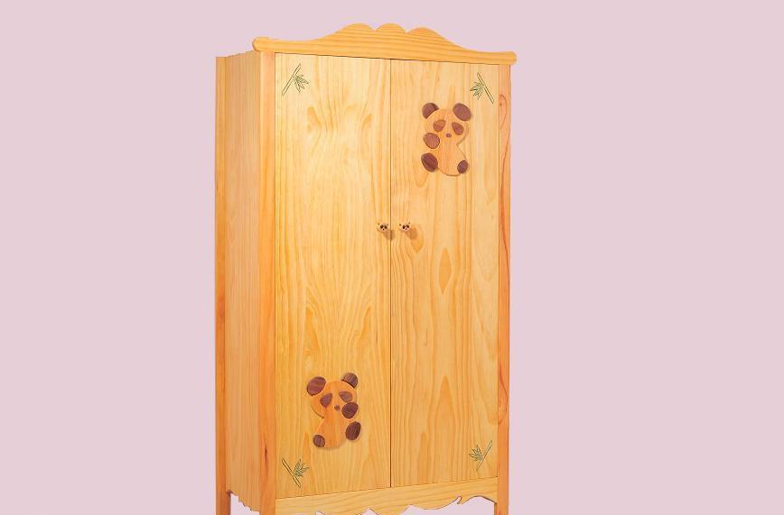 爱心城堡儿童衣柜熊猫系列J001-WR1-NRJ001-WR1-NR