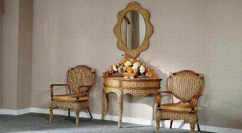 翡翠藤器休闲椅组合3索菲亚索菲亚