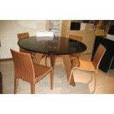左右玻璃餐桌CT039