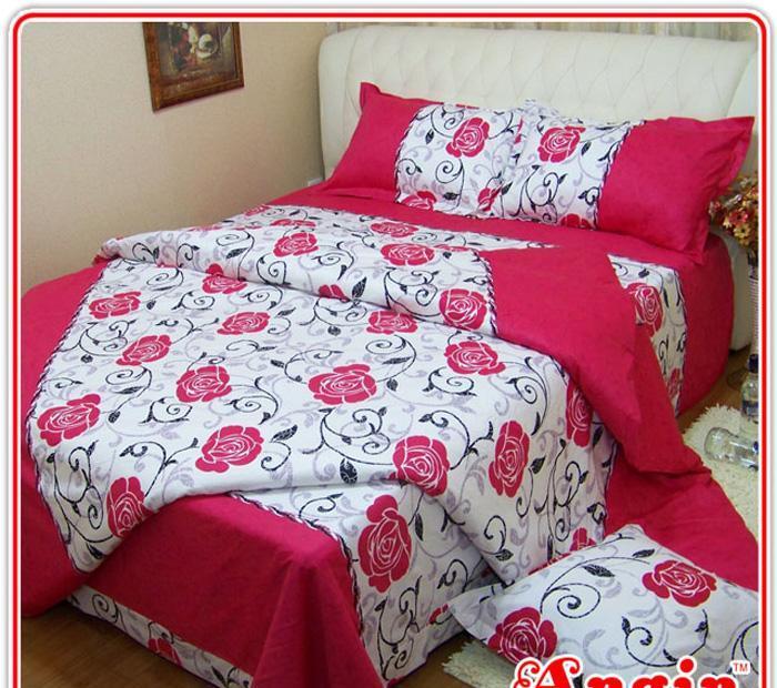安寝家纺玫瑰缘高级斜纹床上用品四件套