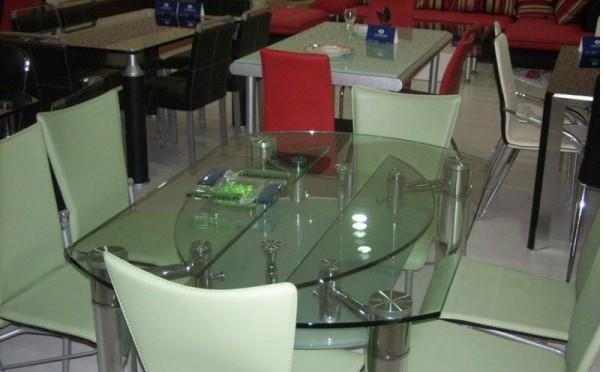 罗曼家日B2118玻璃餐桌B2118