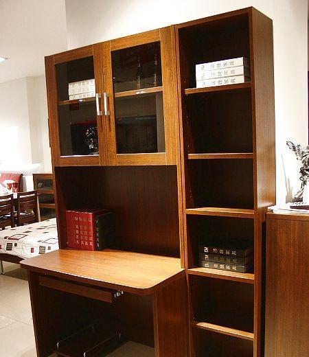 诺捷书房家具电脑桌6M033花梨木色6M033