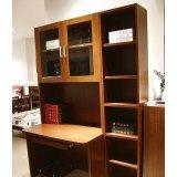 诺捷书房家具电脑桌6M033花梨木色
