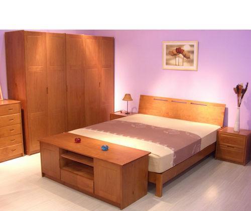 豪纳豪居床头柜樱桃木色系列两抽斗CLGE01
