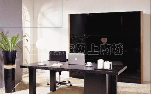 挪亚家书房家具DK3-4CF带胡桃木外框的4门书柜DK3-4CF