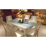 全友家居玻璃面餐桌椅51009