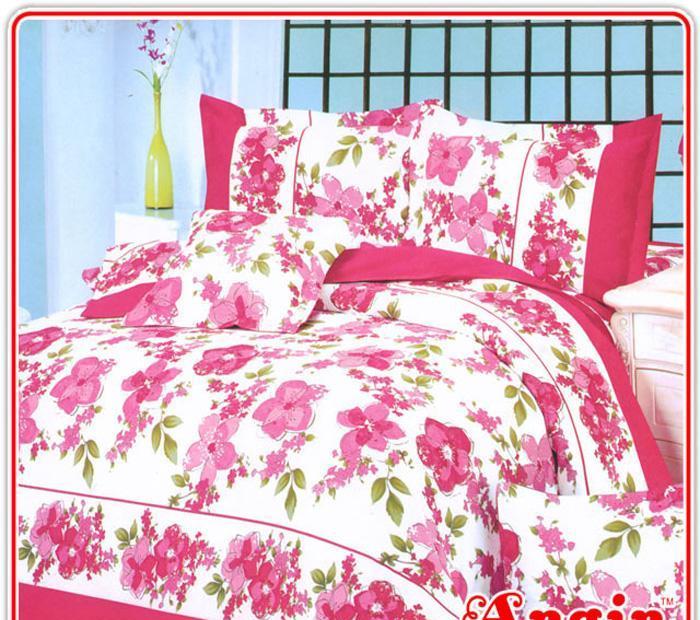 安寝家纺温柔佳人高级斜纹床上用品四件套温柔佳人