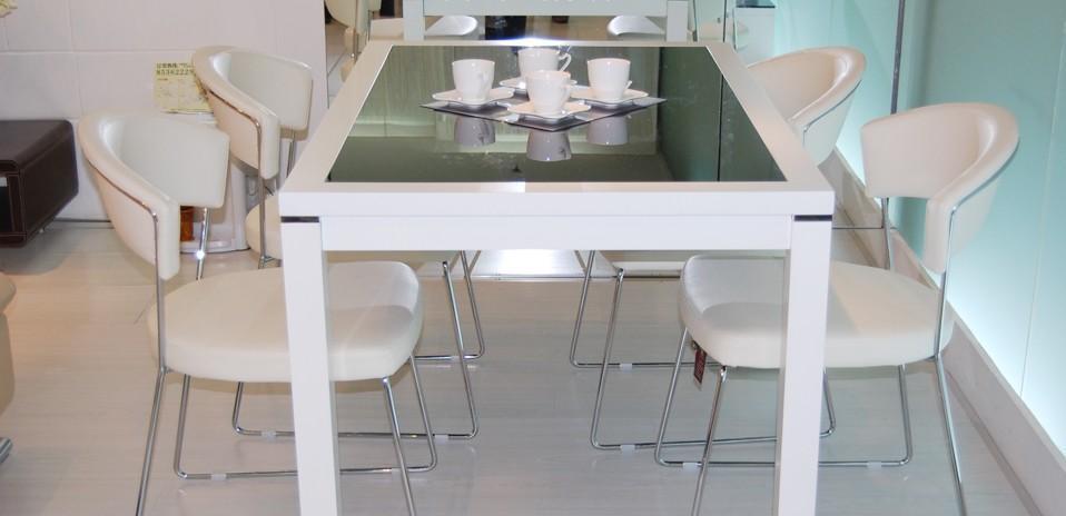 都市家园现代简约餐桌椅T5294+DC6122T5294+DC6122
