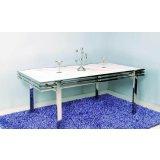 卡丽亚SD-E203现代风格大理石餐桌<br />