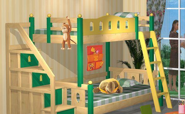 爱心城堡儿童家具双层床J023-BD1